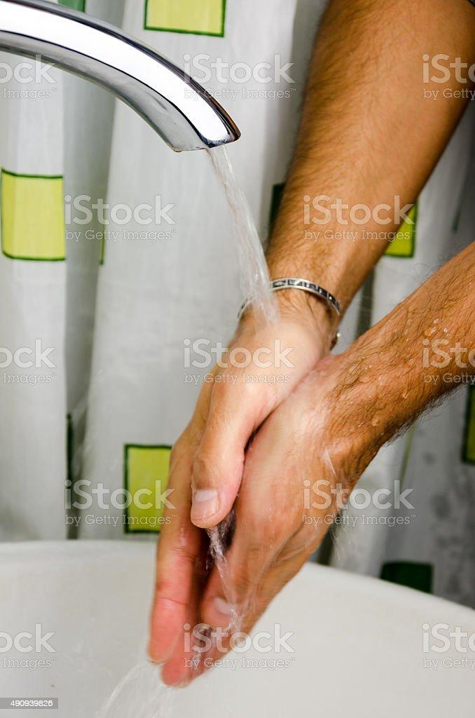Washing hand stock photo
