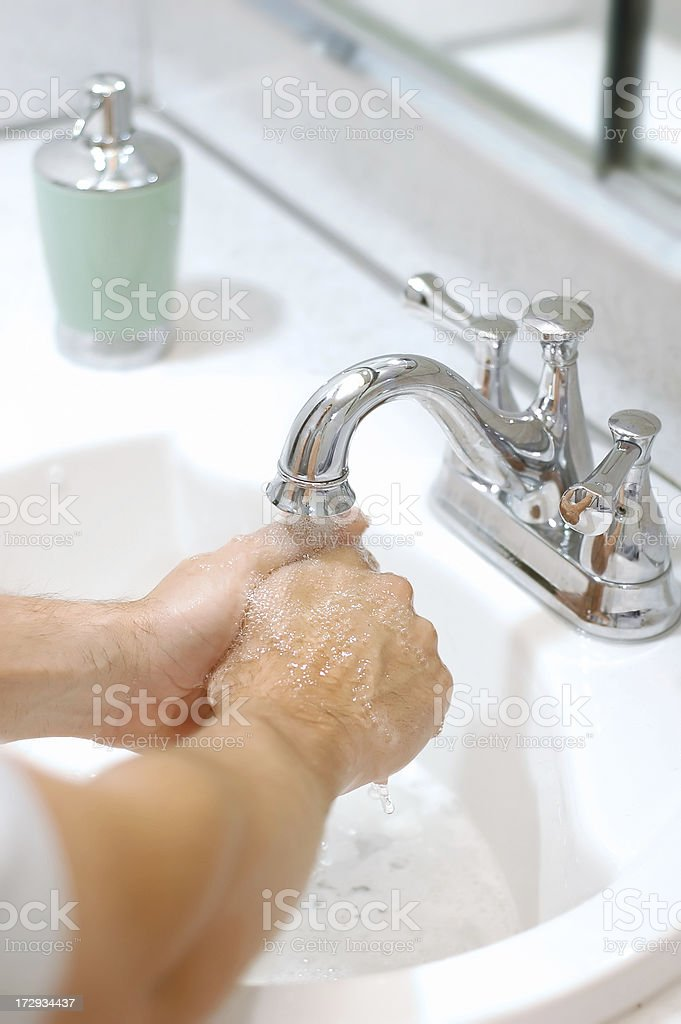 Washing Hands for health royalty-free stock photo