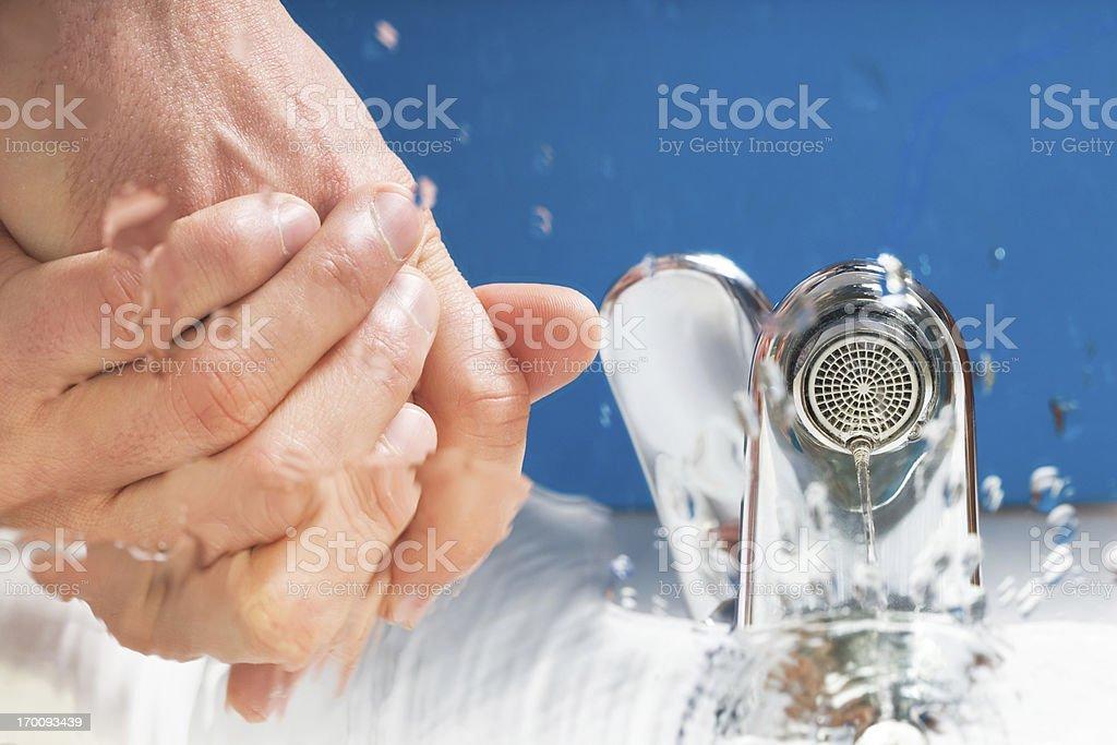 washing hands hygiene royalty-free stock photo