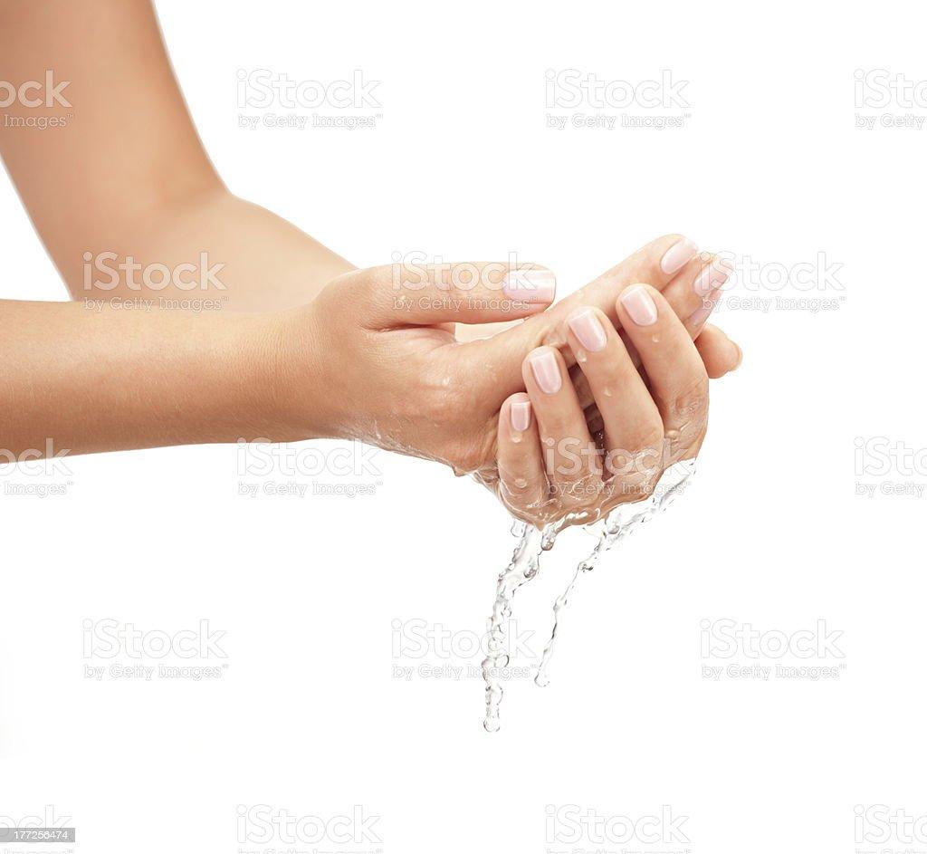 Washing hands stock photo