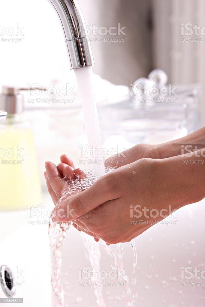 Washing hands royalty-free stock photo