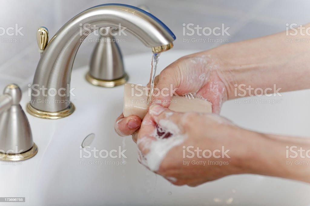 Washing Hands With Soap royalty-free stock photo