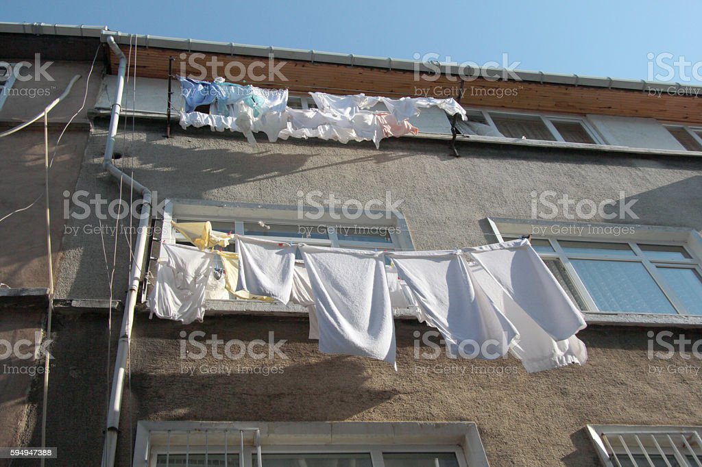 washing hung stock photo