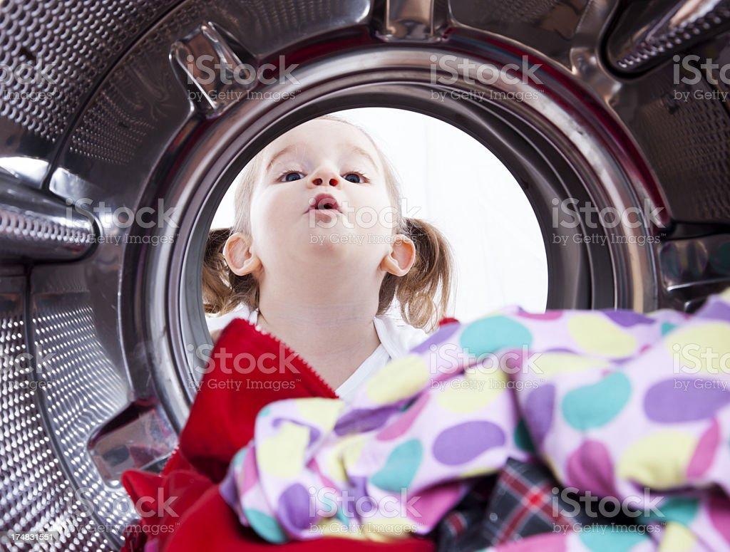 washing laundry royalty-free stock photo
