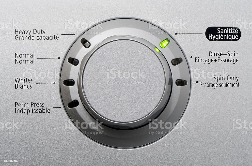 Washing machine control royalty-free stock photo