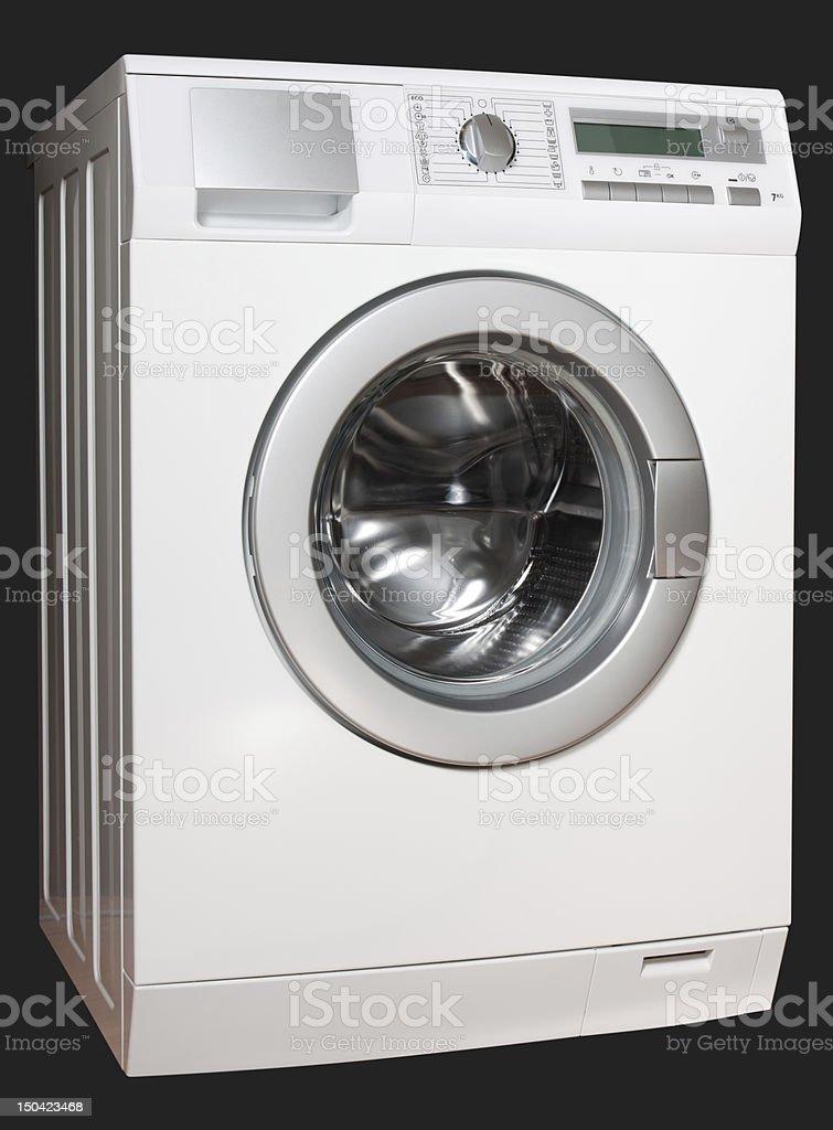 Washing machine from left stock photo