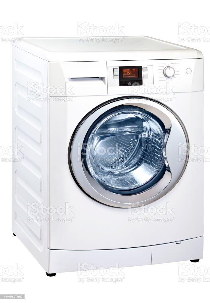 Washing Machine isolated on white stock photo