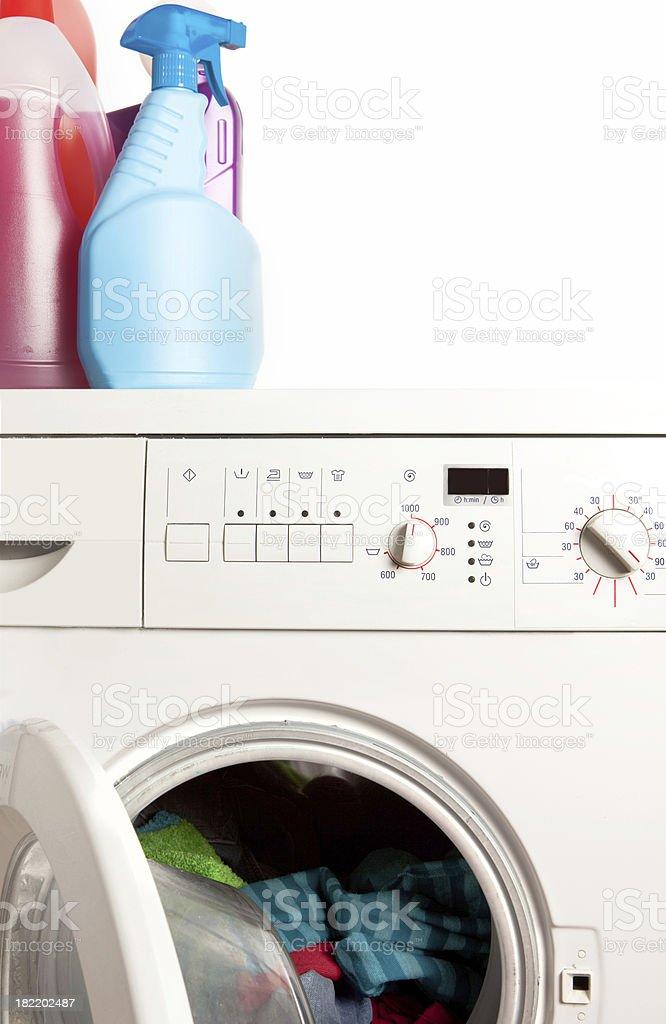 Washing machine, laundry royalty-free stock photo
