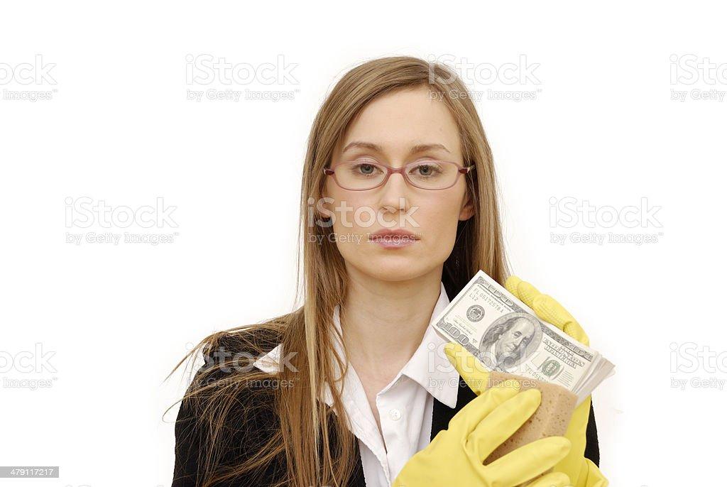 washing money royalty-free stock photo
