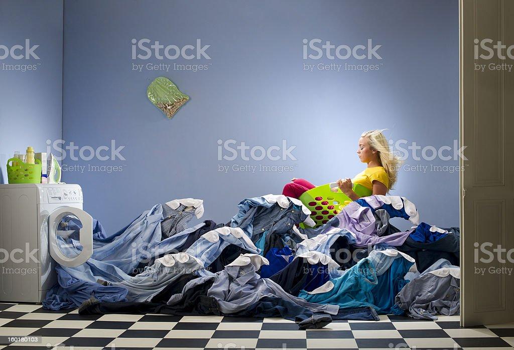 washing overload stock photo