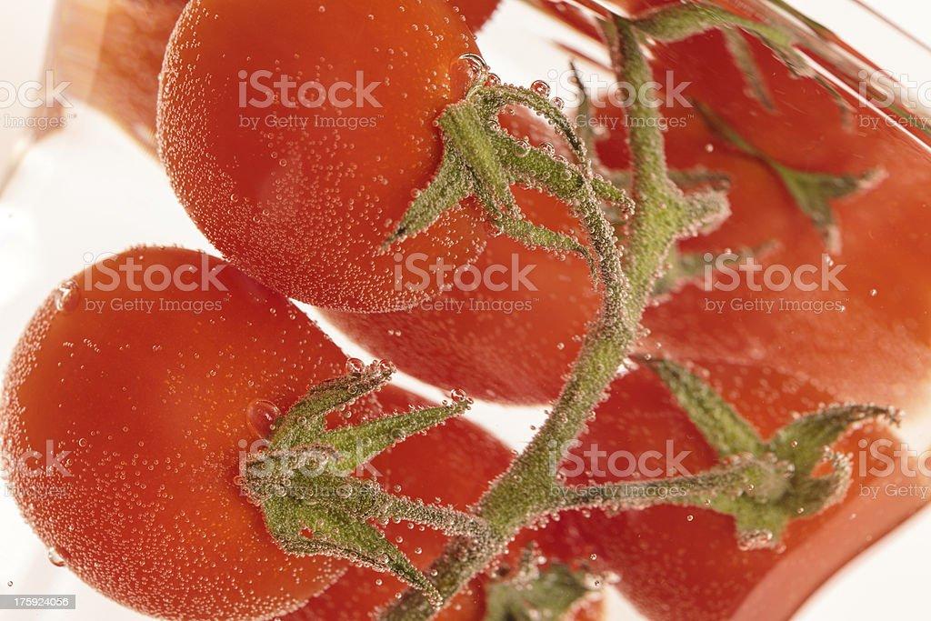 Washing Tomatoes royalty-free stock photo