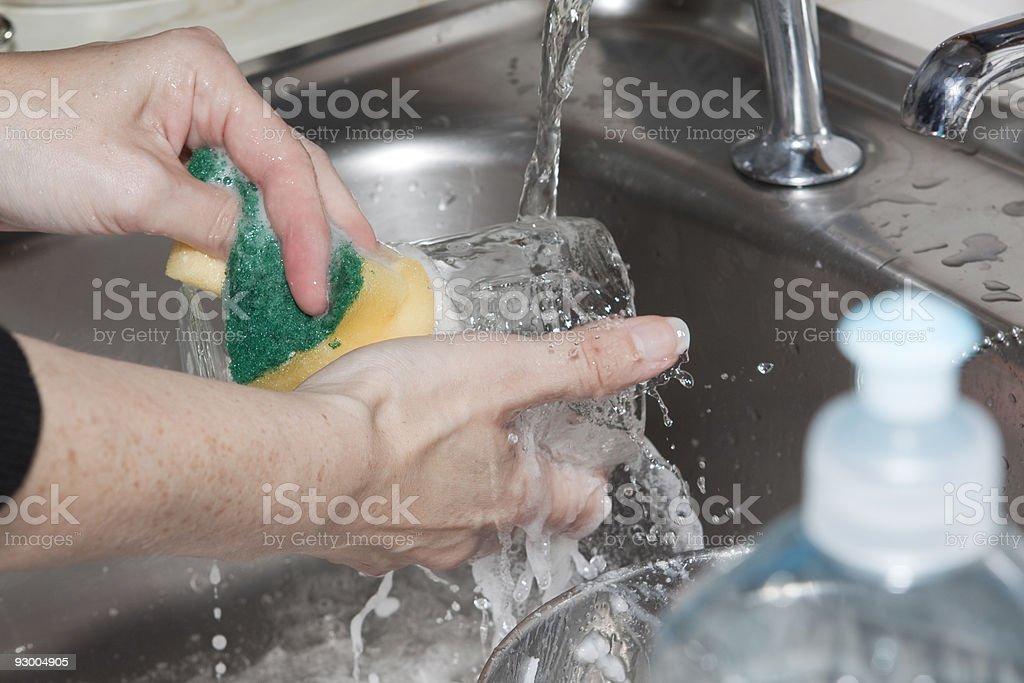Washing Up royalty-free stock photo