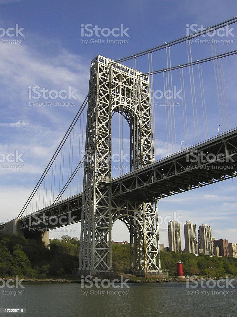 Washington Bridge in NYC royalty-free stock photo