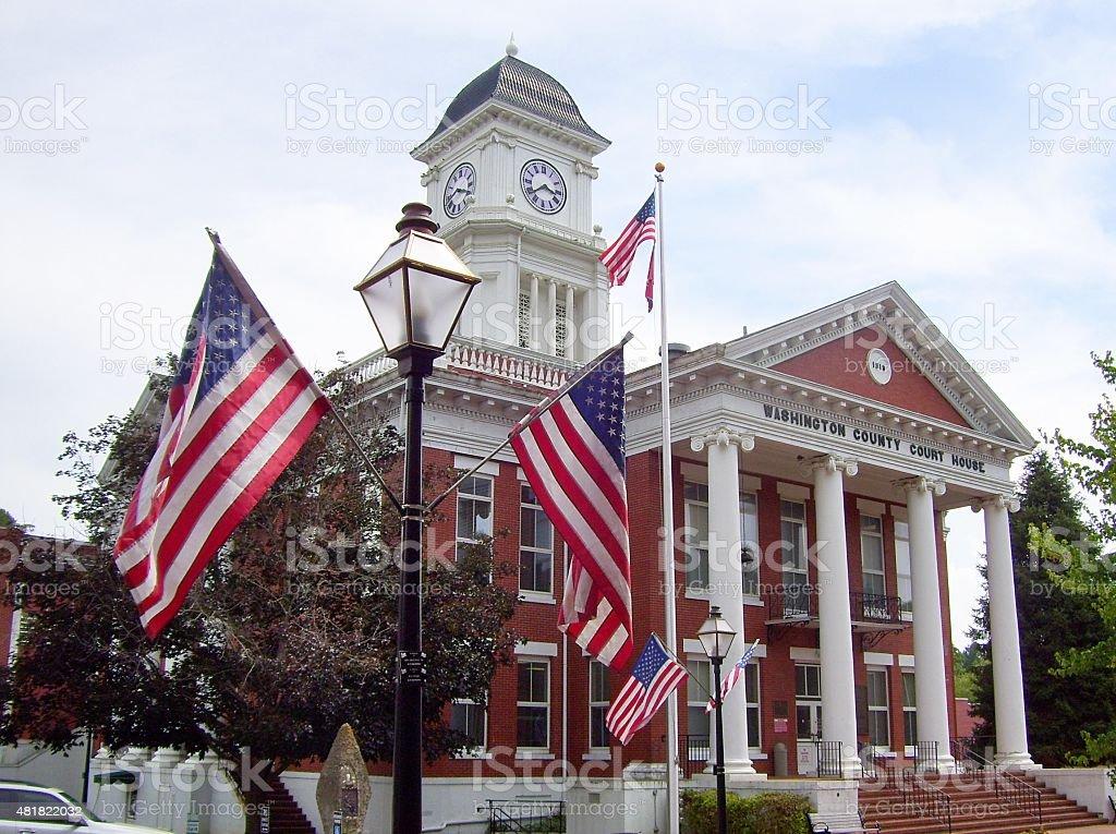 Washington County Courthouse in Jonesborough, Tennessee stock photo