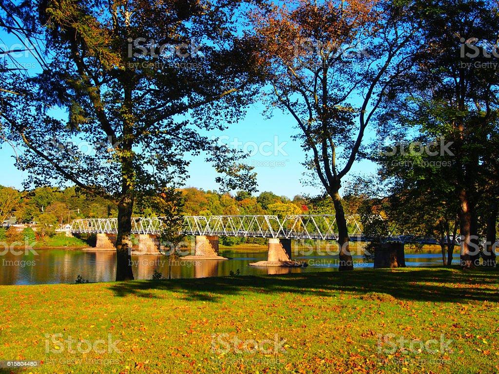 Washington Crossing Bridge stock photo