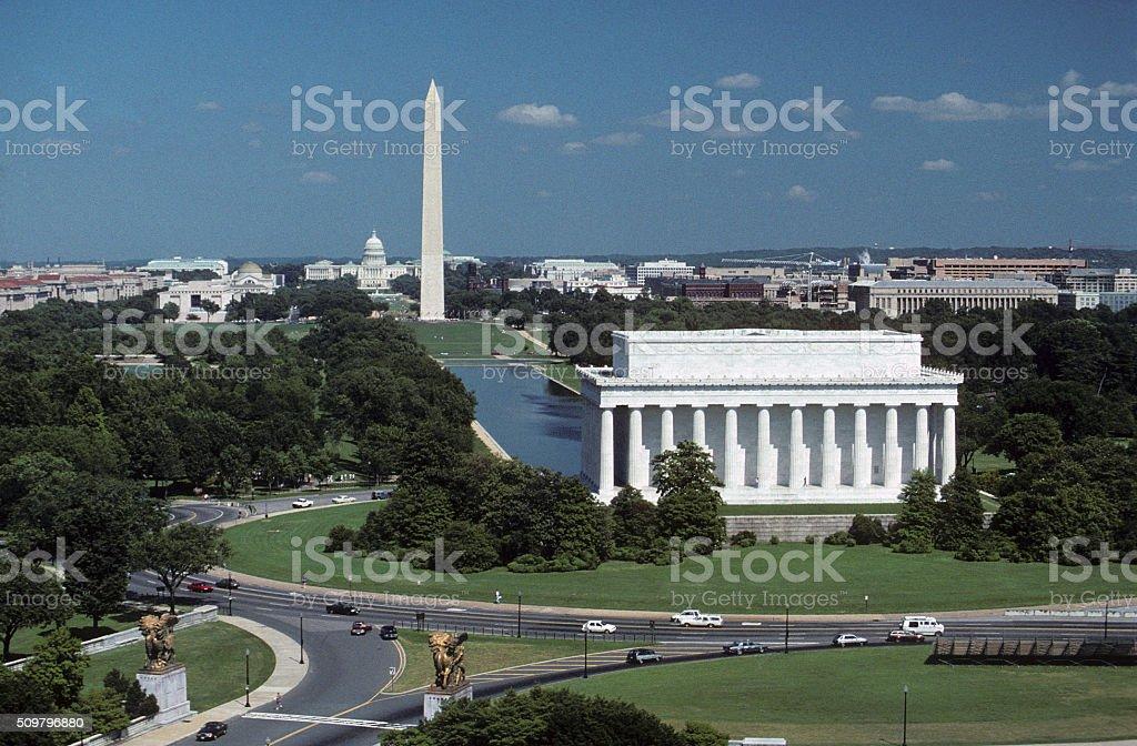 Washington, DC, aerial  photograph stock photo