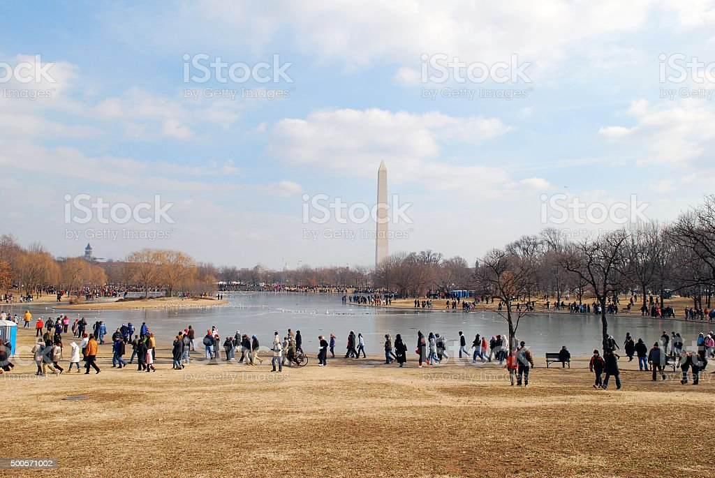 Washington DC after Obama presidential inauguration stock photo