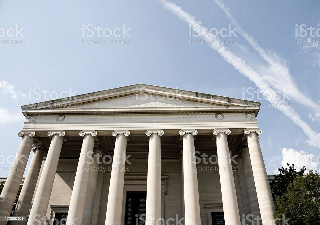 Washington DC Architecture, National Gallery of Art stock photo