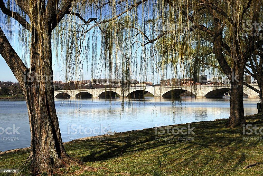 Washington DC Arlington Memorial Bridge stock photo