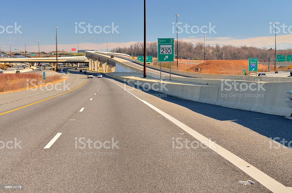 Washington DC Beltway Intersection stock photo