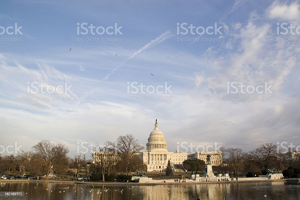 Washington DC: Capitol Reflection stock photo