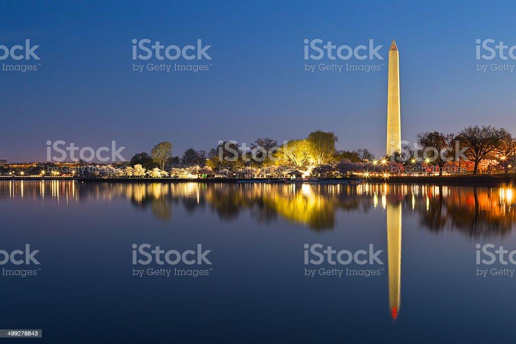 Washington DC Dawn Monument stock photo