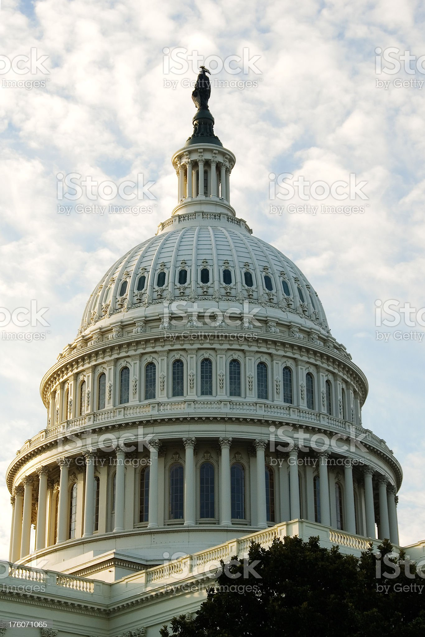 Washington DC: dome of the US Capitol building at sunrise royalty-free stock photo