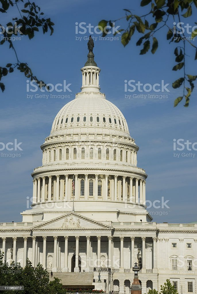 Washington DC: dome of the US Capitol building royalty-free stock photo