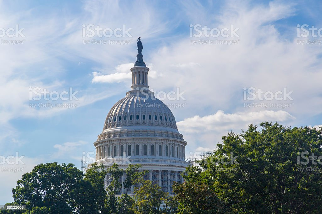 Washington DC, Dome of theUnited States National Capitol building stock photo
