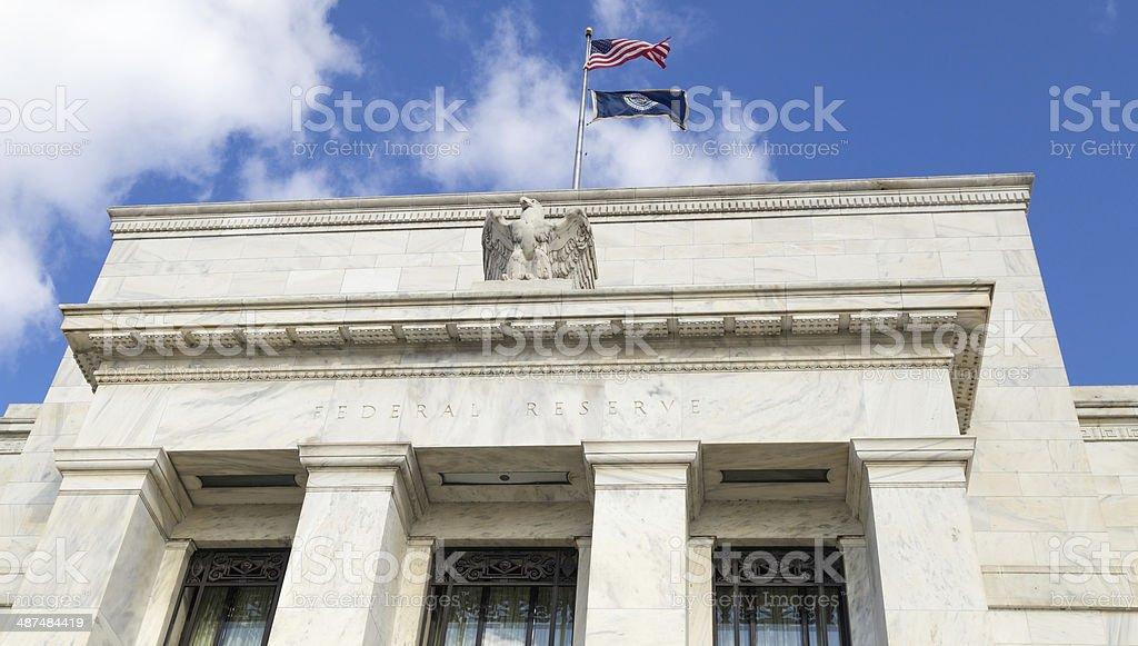 Washington, DC - Federal Reserve headquarters close up stock photo