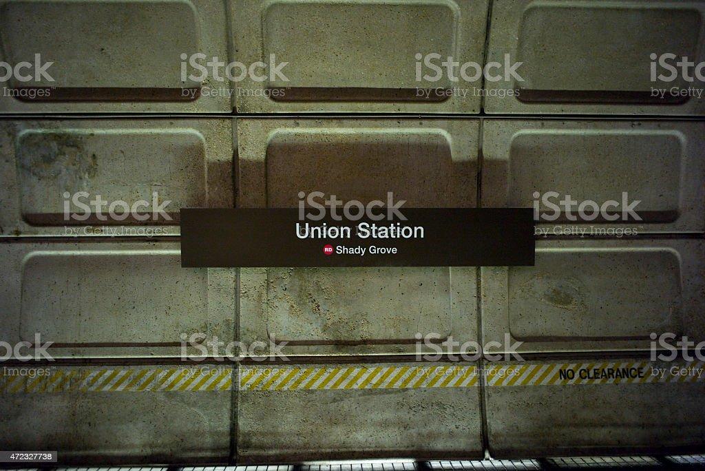 Washington DC Metro Union Station stock photo