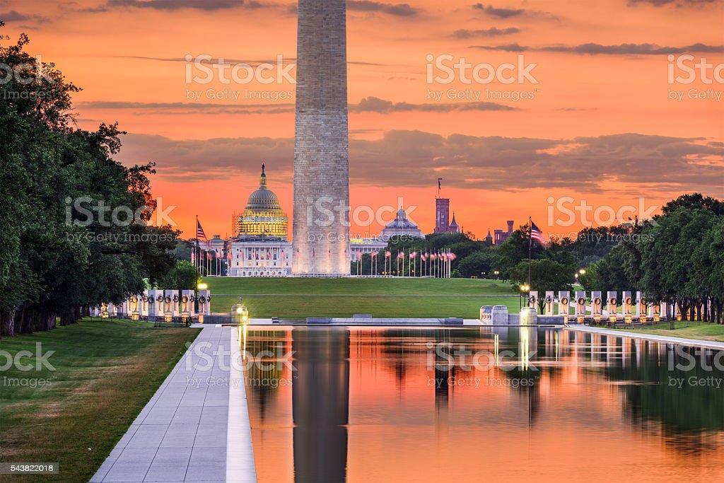 Washington DC Monuments stock photo