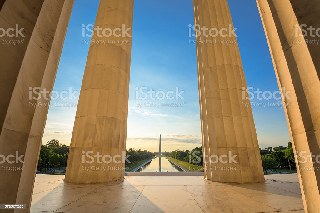 Washington DC Monuments stock photo