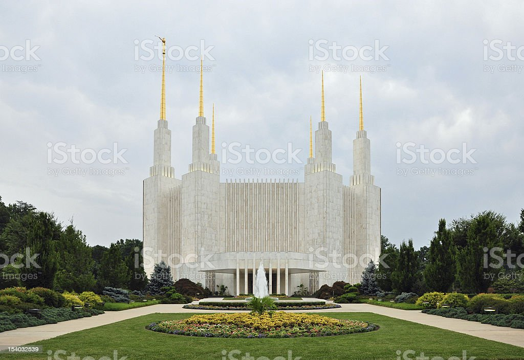 Washington DC Mormon Temple stock photo