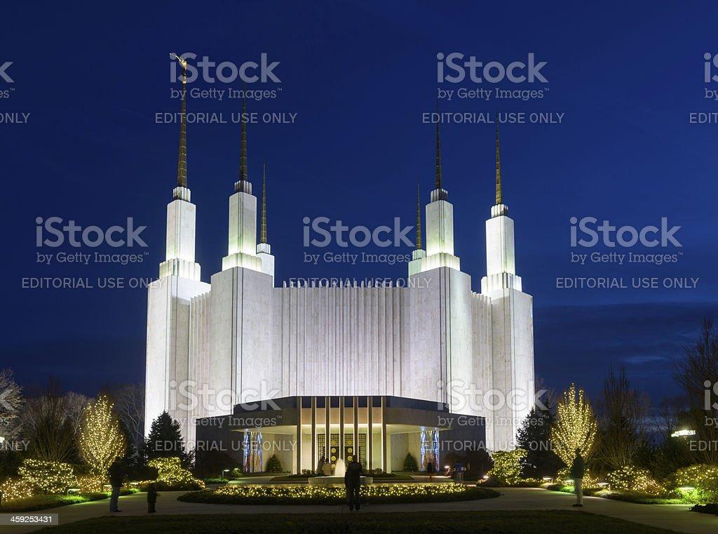 Washington D.C. Mormon Temple royalty-free stock photo