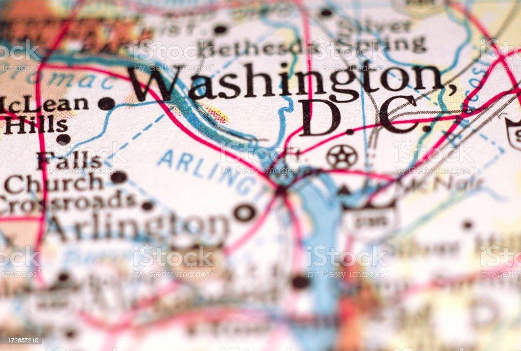Washington DC on the Map stock photo