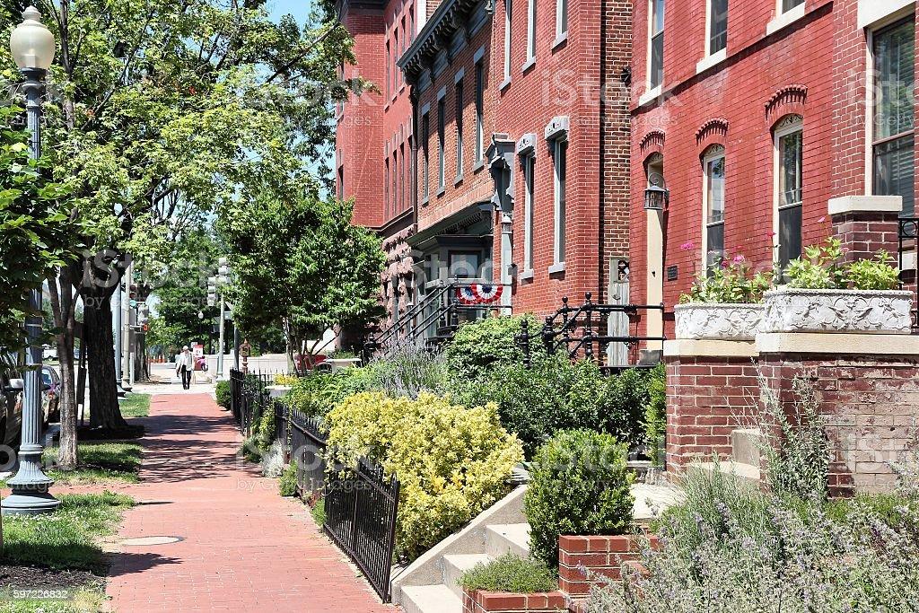 Washington DC residential stock photo