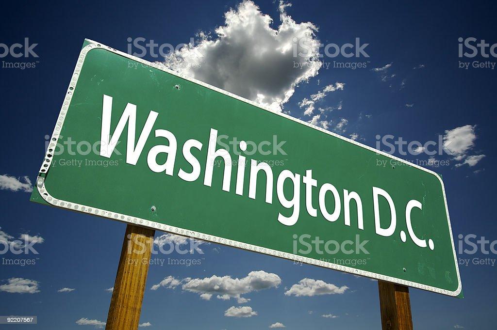 Washington D.C. Road Sign royalty-free stock photo