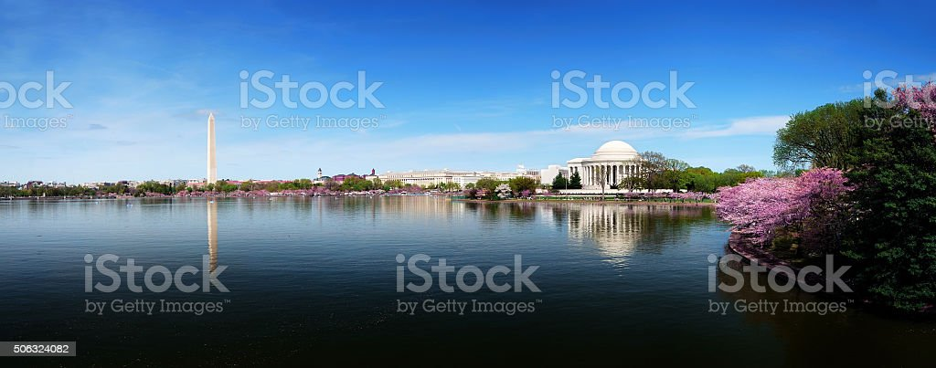 Washington DC skyline panorama stock photo