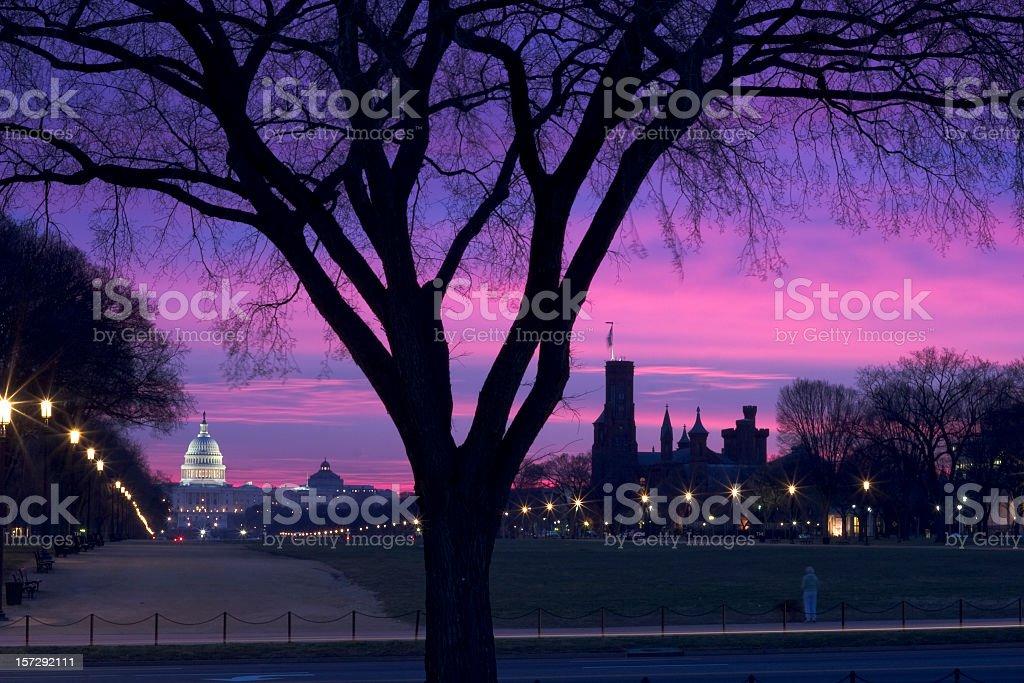 Washington DC Sunrise stock photo