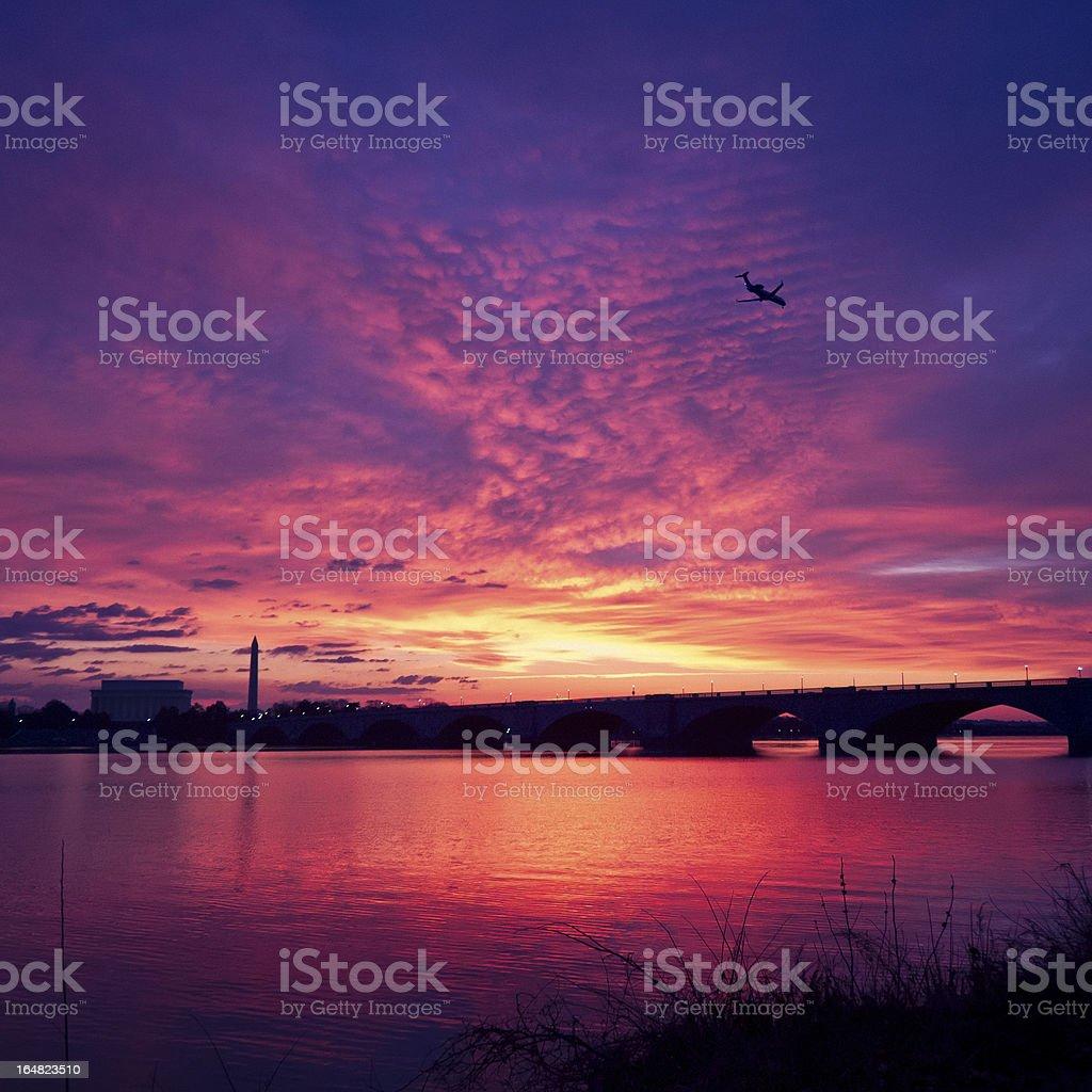 Washington DC Sunrise royalty-free stock photo