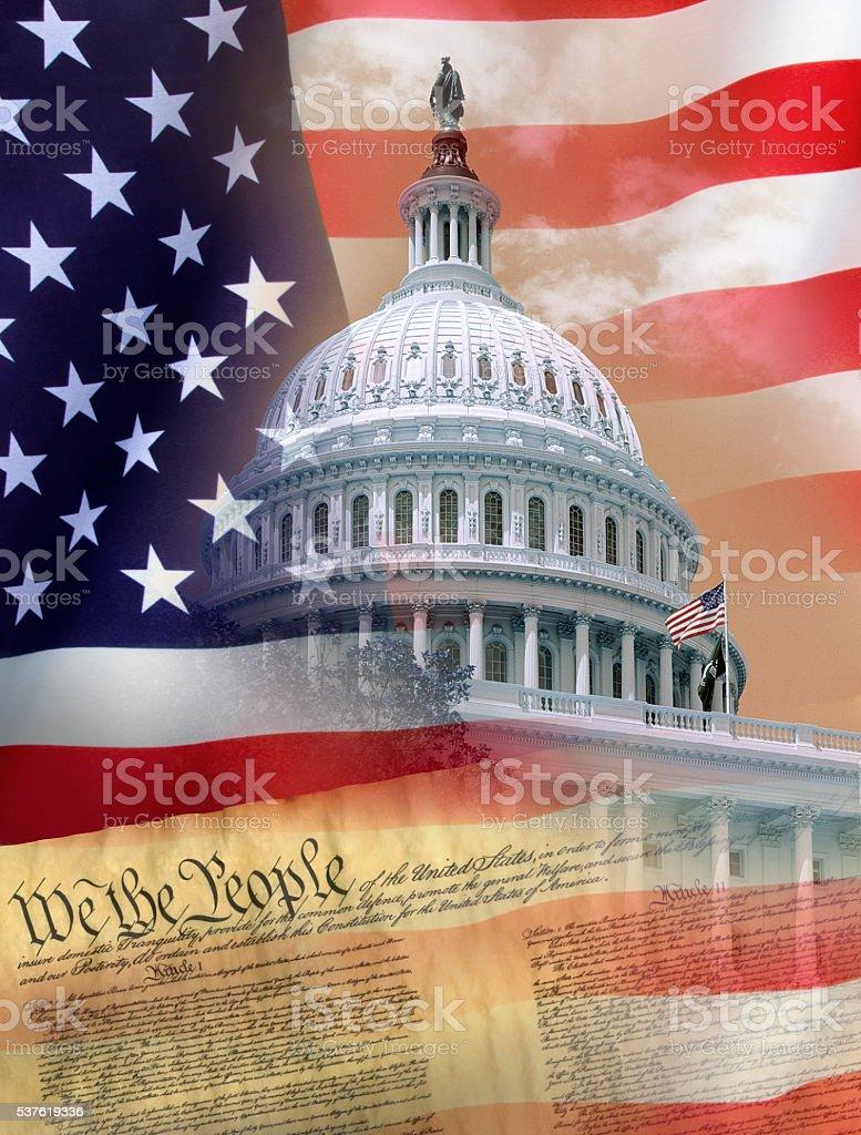 Washington DC - Symbols of the USA stock photo