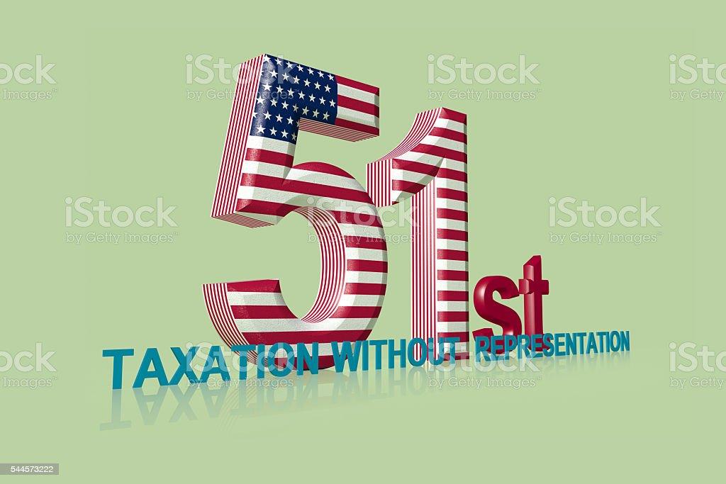 Washington D.C. - The 51st State stock photo