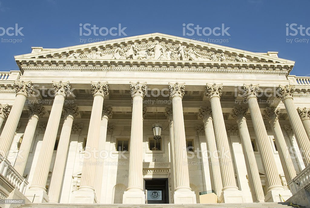 Washington DC:  US Capitol building, house of representatives royalty-free stock photo
