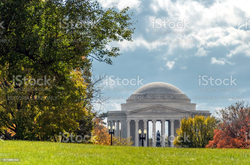 Washington DC, USA. November 2012. View of Jefferson Memorial, honouring one of America's most important presidents. stock photo