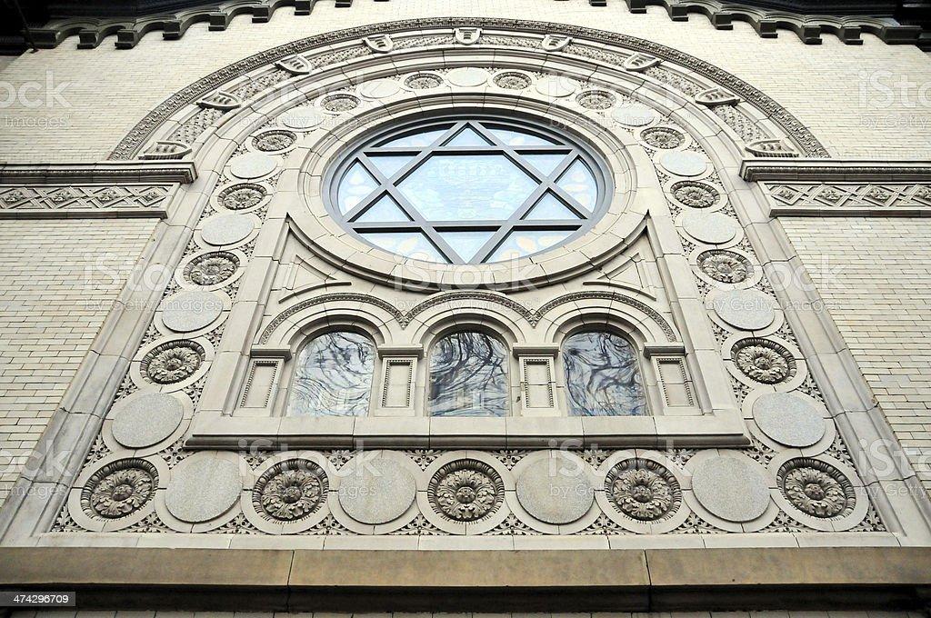 Washington, D.C., USA: Star of David window royalty-free stock photo