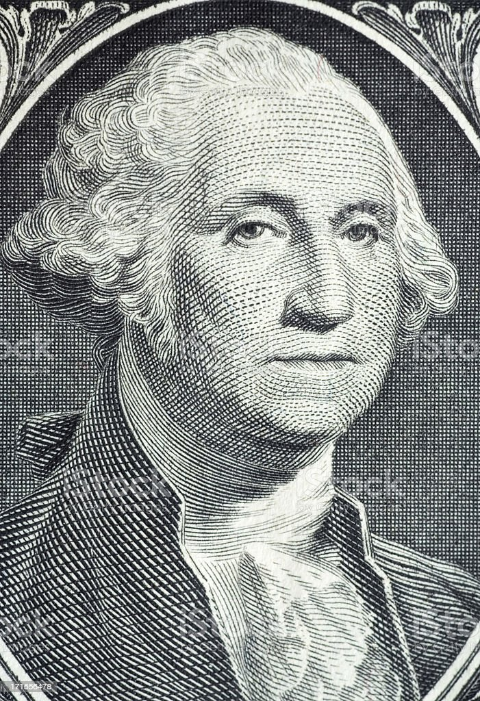 Washington Dollar Bill Close-Up royalty-free stock photo