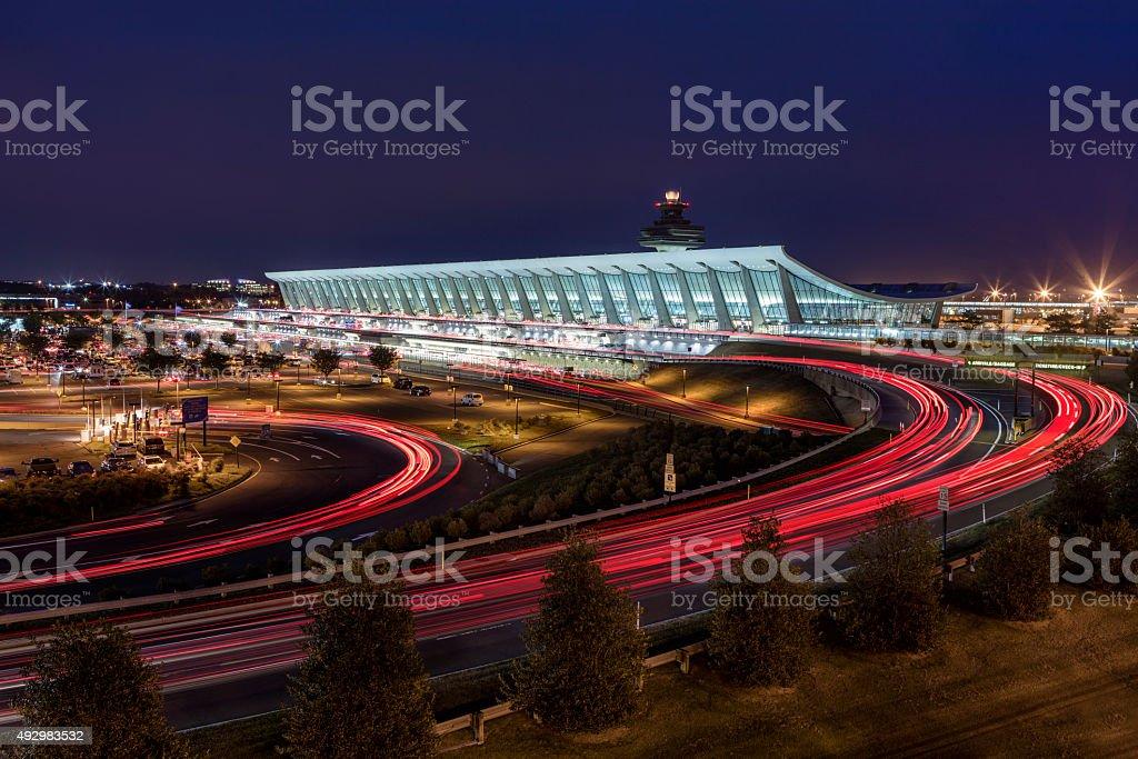 Washington Dulles Airport stock photo