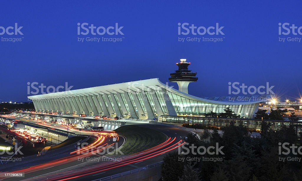 Washington Dulles International Airport stock photo