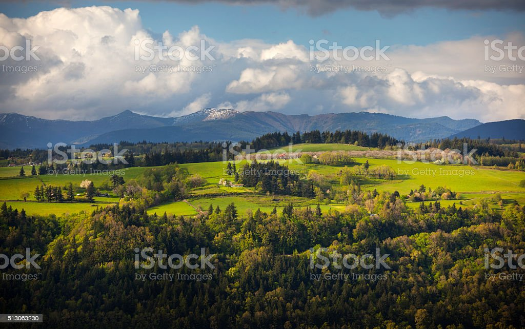 Washington Farmland Pacific Northwest. stock photo